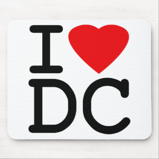 I Love Heart Washington D.C. District of Columbia Mouse Pad