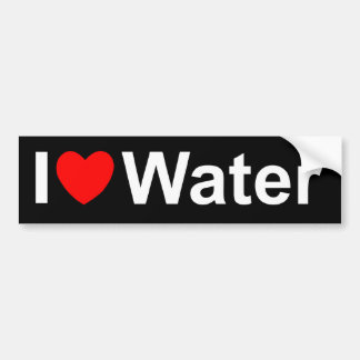I Love (Heart) Water Bumper Sticker