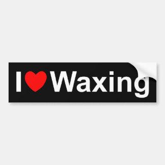I Love (Heart) Waxing Car Bumper Sticker