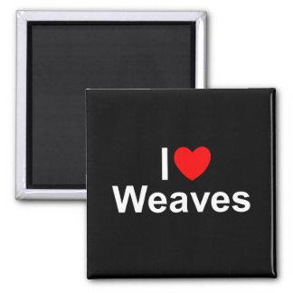 I Love (Heart) Weaves Magnets