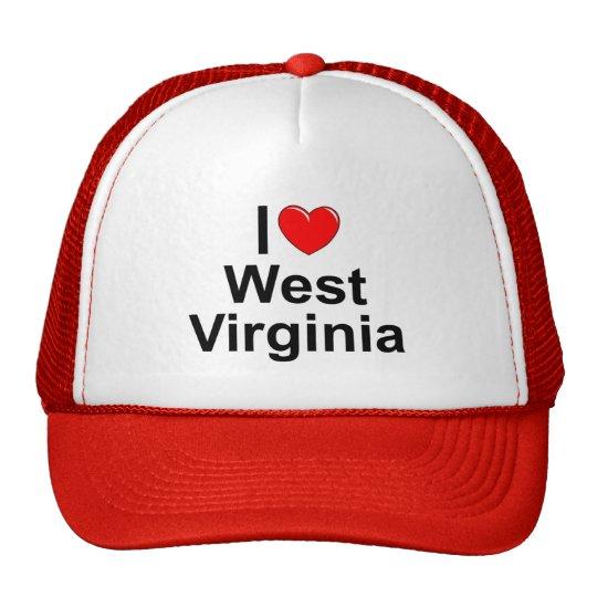 I Love (Heart) West Virginia Trucker Hat