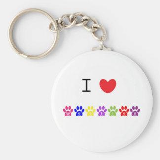 I love heart westies dog keychain, gift idea basic round button keychain