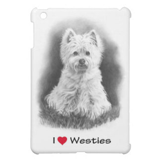 I Love (Heart) Westies: Pencil Drawing, Realism Cover For The iPad Mini