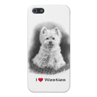 I Love (Heart) Westies: Pencil Drawing, Realism iPhone SE/5/5s Case