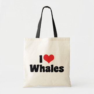 I Love Heart Whales - Whale Lover Tote Bag