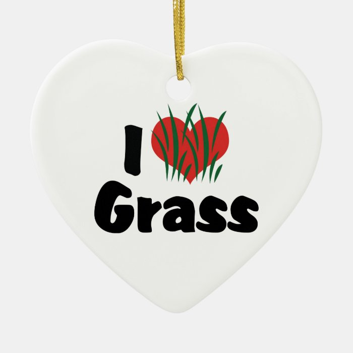 I Love Heart Wheatgrass - Juicing Healthy Living Ceramic Ornament