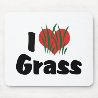 I Love Heart Wheatgrass - Juicing Healthy Living Mouse Pad