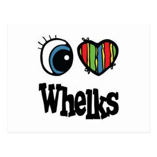 I Love (Heart) Whelks Postcard