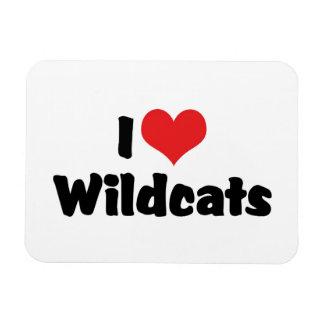 I Love Heart Wildcats Magnet