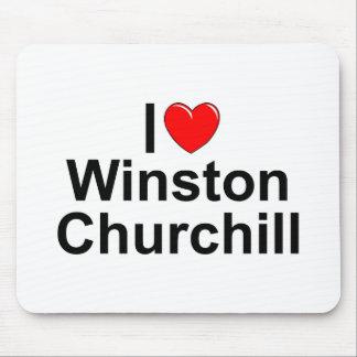 I Love (Heart) Winston Churchill Mouse Pad