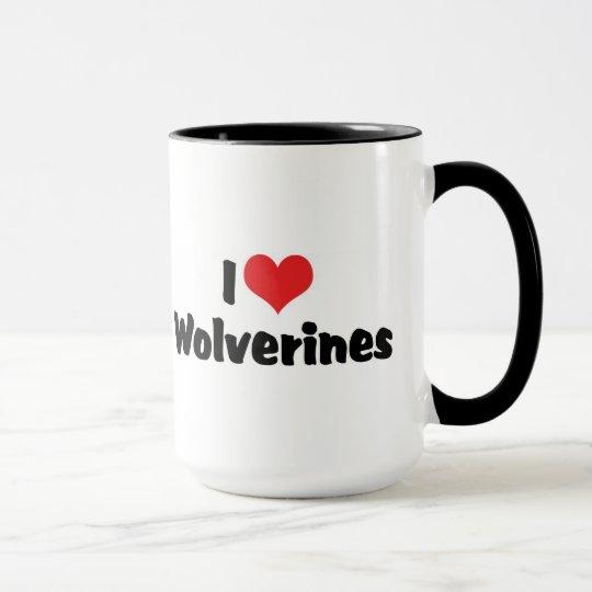 I Love Heart Wolverines Mug