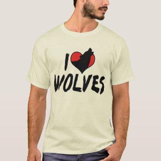 I Love Heart Wolves - Wolf Lover T-Shirt
