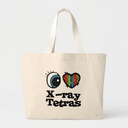 I Love (Heart) Xray Tetras Jumbo Tote Bag