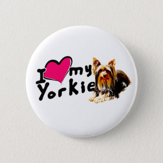 I love (heart) Yorkies Button