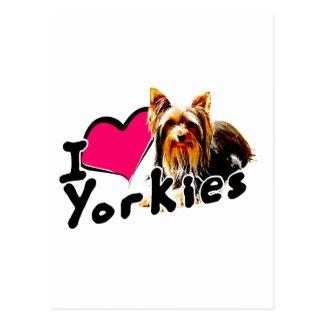 I love (heart) Yorkies Postcard