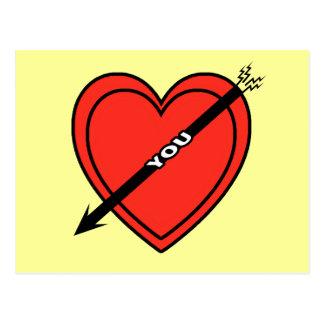 I Love Heart You Postcard