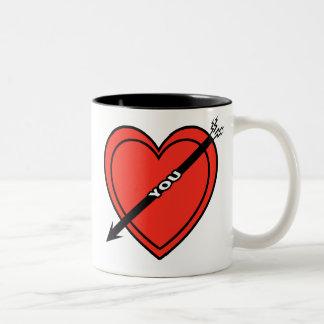 I Love Heart You Two-Tone Coffee Mug