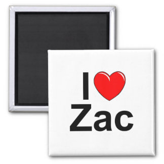 I Love (Heart) Zac Magnet