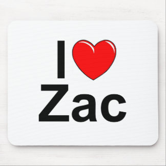 I Love (Heart) Zac Mouse Pad