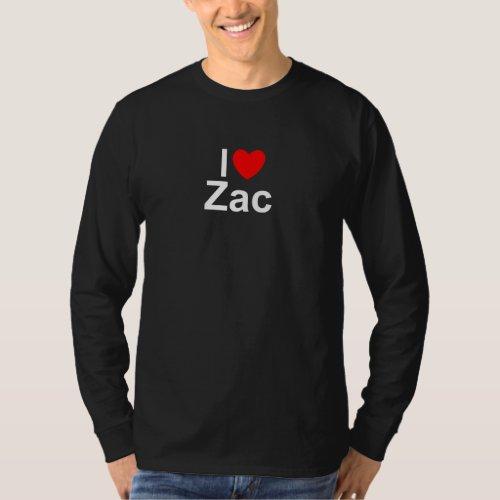 I Love Heart Zac T_Shirt