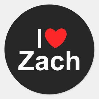 I Love (Heart) Zach Classic Round Sticker