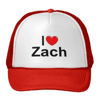 I Love (Heart) Zach Trucker Hats