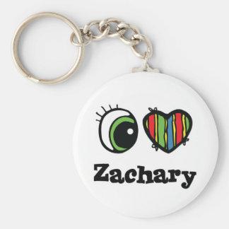 I Love (Heart) Zachary Key Chain