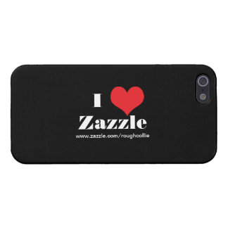 I love heart  Zazzle, custom to promote your store Case For iPhone SE/5/5s