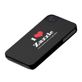 I love heart Zazzle, custom to promote your store iPhone 4 Case-Mate Case