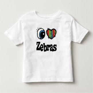 I Love (Heart) Zebras Shirt