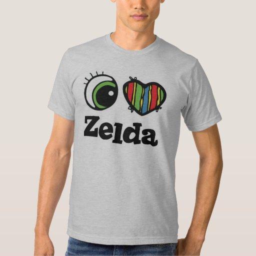 I Love (Heart) Zelda Tee Shirts