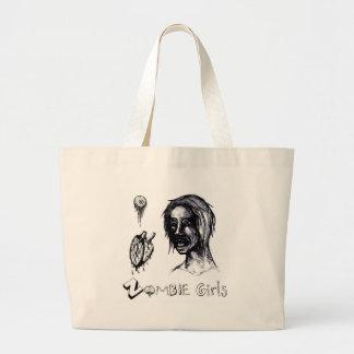 I Love (heart) Zombie Girls Jumbo Tote Bag