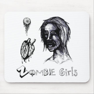 I Love (heart) Zombie Girls Mouse Pad