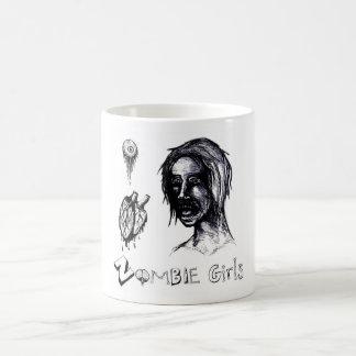 I Love (heart) Zombie Girls Classic White Coffee Mug