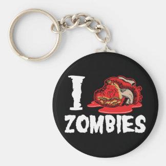 I Love Heart Zombies Keychain