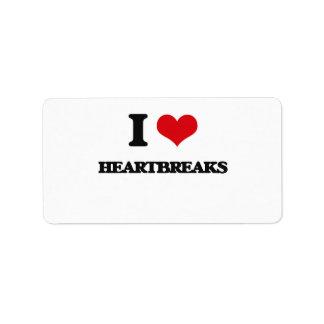 I love Heartbreaks Address Label