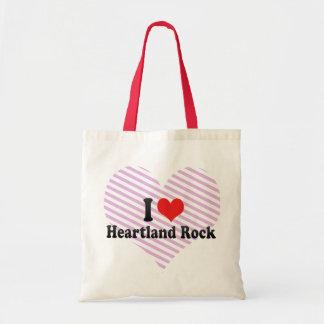 I Love Heartland Rock Tote Bags