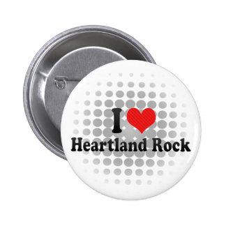 I Love Heartland Rock Pinback Buttons