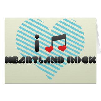 I Love Heartland Rock Greeting Cards