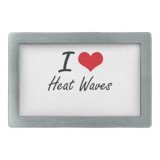 I love Heat Waves Belt Buckle