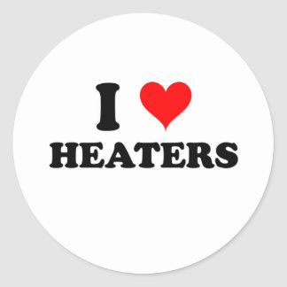 I Love Heaters Stickers