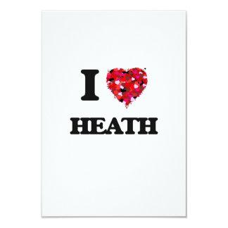 I Love Heath 3.5x5 Paper Invitation Card
