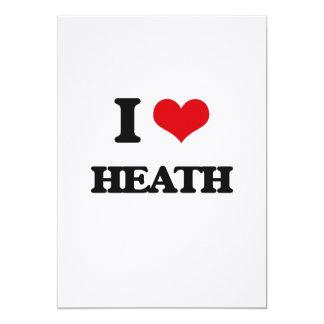 I Love Heath 5x7 Paper Invitation Card