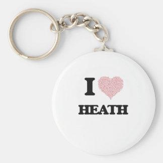 I Love Heath Basic Round Button Keychain