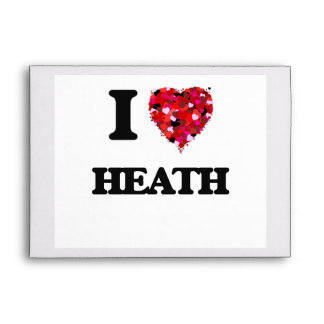 I Love Heath Envelopes