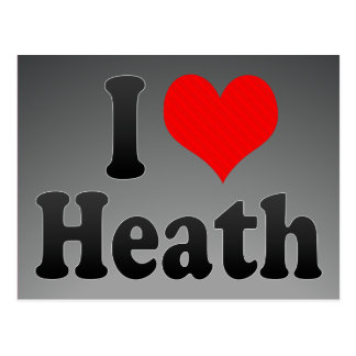 I love Heath Postcard