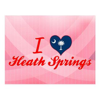 I Love Heath Springs, South Carolina Postcard