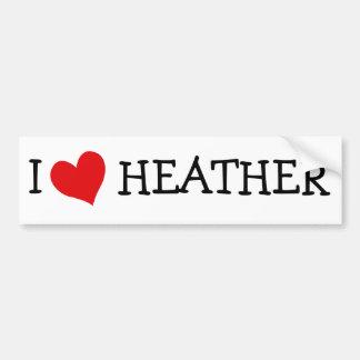 I Love Heather Bumper Stickers