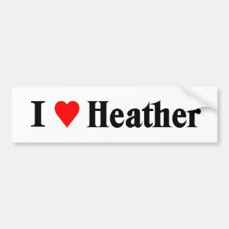 I love Heather Bumper Sticker