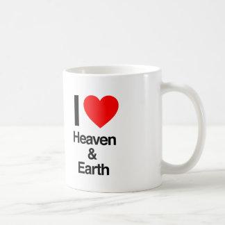 i love heaven and earth coffee mug
